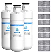 LT1000P Refrigerator Water Filter and Air Filter, Compatible with LG LT1000P, LT1000PC, MDJ64844601, ADQ747935, Kenmore 46-9980, and LG LT120F, ADQ73214404 Air filter Combo