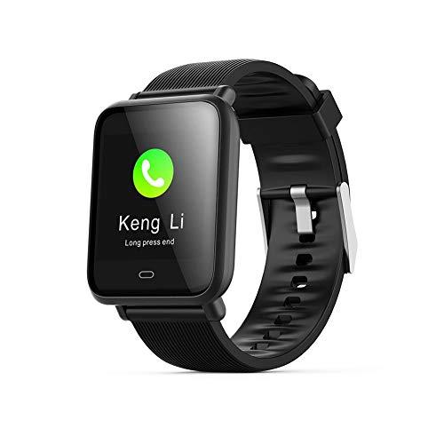 Fitness-Tracker, Aktivitäts-Tracker-Uhr mit Herzfrequenz-Blutdruckmessgerät IP67 wasserdichte Smartwatch, Q9 Sports Smartwatch (schwarz)