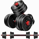DINKALEN Juego de pesas ajustables para levantamiento de pesas de 50 kg para entrenamiento de gimnasio