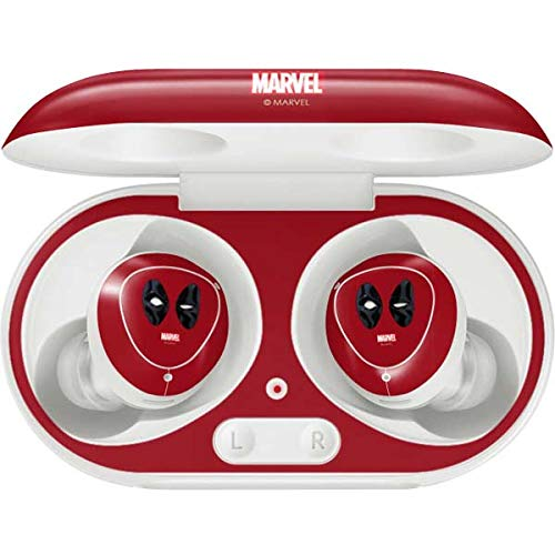 Skinit Decal Audio Skin Compatible with Galaxy Buds+ - Officially Licensed Marvel/Disney Deadpool Eyes Design