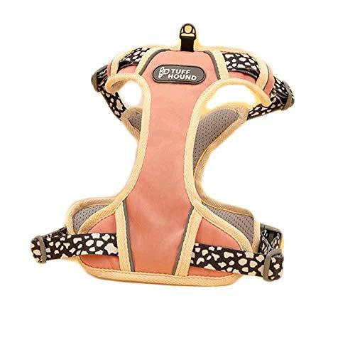 feiling Hundegeschirr Verstellbares für Kleine Mittelgroße und Große Hunde Brustgeschirre Sicher Mesh Atmungsaktiv Welpengeschirr Haustier Vest Reflektierende Laufgeschirre (S, Pink)