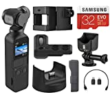 DJI Osmo Pocket Handheld 3 Axis Gimbal Stabilizer with Integrated Camera, Essential Bundle with Expansion Kit, Cradle, 32GB microSD