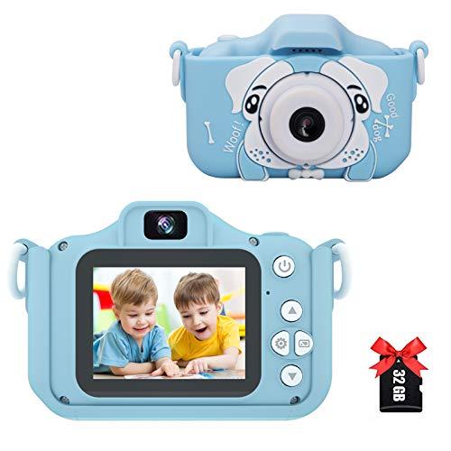 Amycute Kinder Kamera, Kinder Digital Kamera Spielzeug Kleinkind Kamera Geschenke Videorecorder mit 32 Megapixel,2 Inch Bildschirm,2.5k UHD,32GB SD Karte für 3 bis 12 Jahre alte Jungen