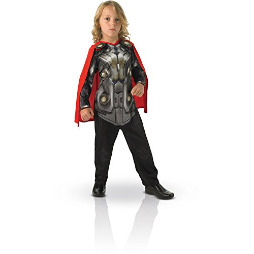 Rubie's-déguisement officiel - Marvel- Costume Thor Dark World Rouge- Taille S 3-4 ans - CS886590/S