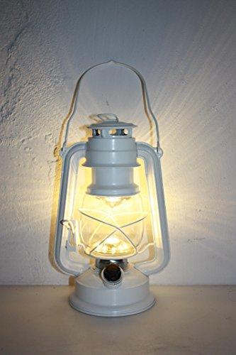 LED stormlantaarn wit met dimmer, campinglamp 35 cm hoog
