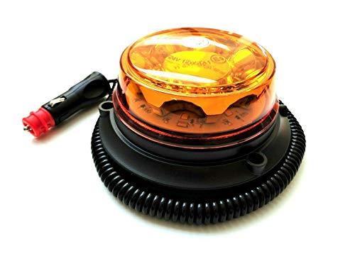 LED Rundumleuchte 4 Blitzmuster 12V 24V ECE R65 R10 E9 Magnet f. PKW LKW Traktor