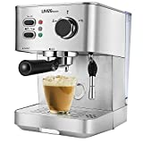 LIVINGbasics 2 in 1 Espresso Machine with Milk Frother, Cappuccino Maker, Latte Maker