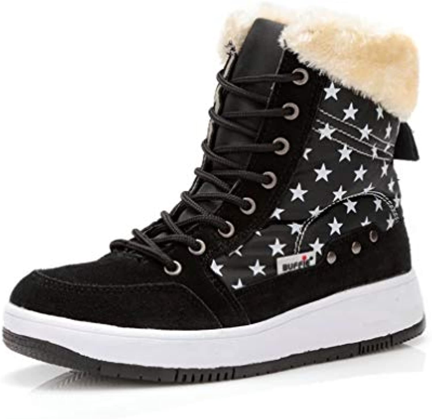 T-JULY Women New Brand Winter Snow Boots Ankle Short Fur Boots Girls Lace-up Warm Fur fFits Ture Normal Cow Suede Leather Plus Size Boots
