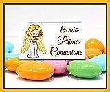 Bigliettini Bomboniera Prima Comunione - bigliettini fazzoletti confetti e sacchetti confetti n. 60 pezzi pretagliati