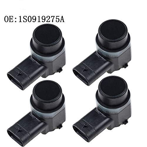 Radar de marcha atrás 4PCS sensor de aparcamiento PDC for AUDI A1 A3 A4 A5 A6 for VW Passat Tiguan Touran polo golf, SEAT, SKODA Octavia 1S0919275A Sensor de radar de marcha atrás ( Color : Black )