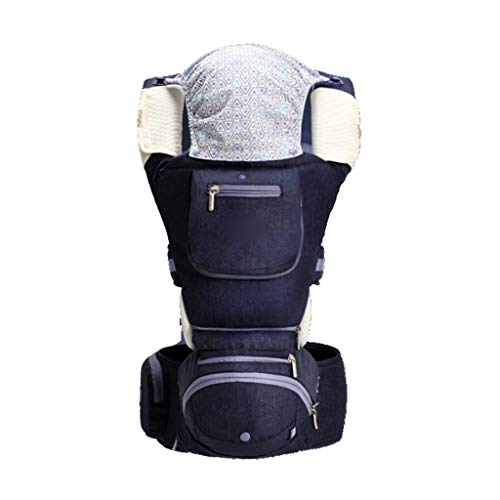 MMJS Babytrage, multifunktionaler horizontaler Umarmungshocker für die Taille Umarmungsbabygurt Vier Jahreszeiten Universal-Babytragegurt,B