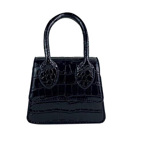 N-B Retro Snake Skin Prints Crossbody Bag For Women Serpentine Small Shoulder Bag Top- Handle Mini Square BagNew Fashion