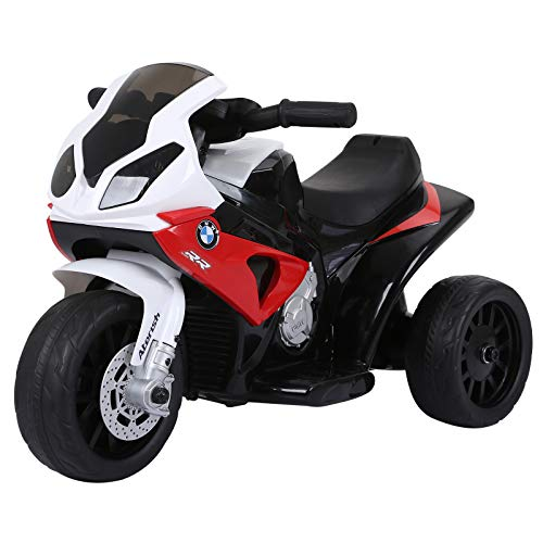 HOMCOM Compatible for Kids 3 Wheel Electric Motorbike Ride on Motorcycle w/...