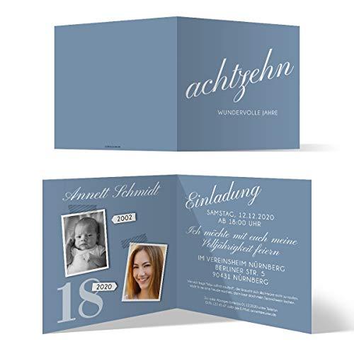 30 x 18. Geburtstag Einladungskarten Geburtstagseinladungen - achtzehn wundervolle Jahre