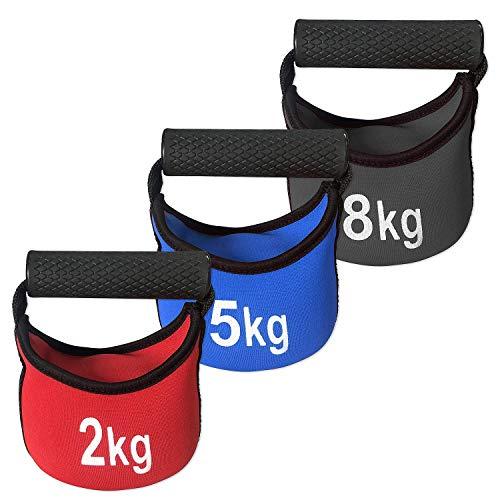 Sport-Thieme Soft Kettlebell | Mit Metall-Sand gefüllte Schwunghantel, Kugelhantel | In 2kg, 5kg o. 8kg | 18x18x13 cm | Aus Neopren mit Kunststoffgriff | Markenqualität
