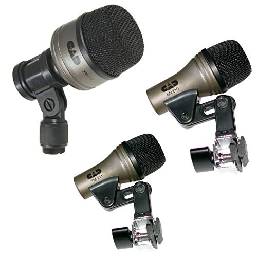 drum overhead mics Drum Microphone Set of 3 CAD mics for Bass KM212 Snare Drum SN210 Tom Tom TM211