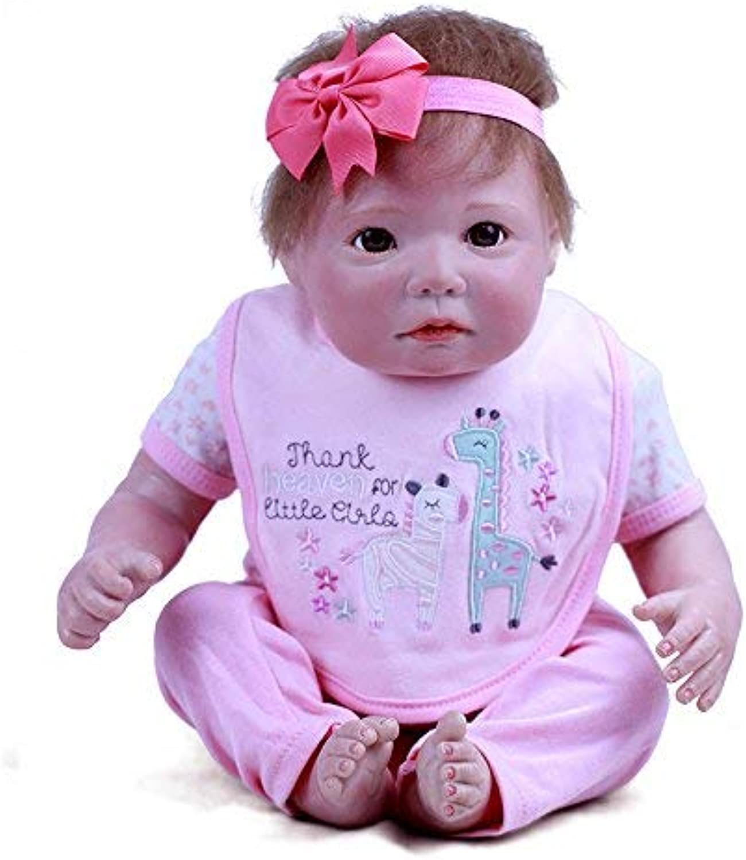 20  50cm Newborn Baby Doll Handmade Real Looking Reborn Baby Dolls Vinyl Silicone Realistic Lifelike Newborn Doll Xmas Gift Birthday Gift