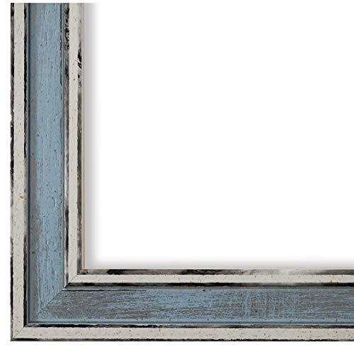 Online Galerie Bingold Bilderrahmen Blau Weiß 40 x 50 cm 40x50 - Modern, Shabby, Vintage - Alle Größen - handgefertigt - WRF - Lugnano 2,8