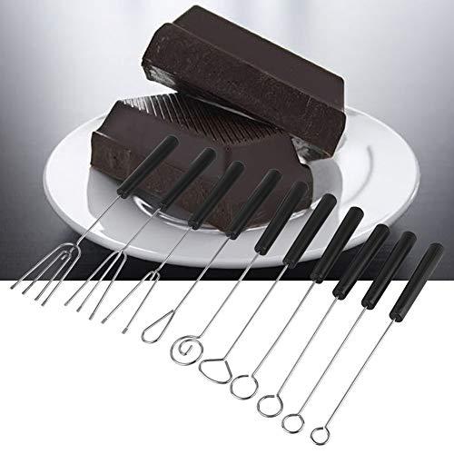 Tenedor de chocolate, resistencia a altas temperaturas Juego de tenedores de chocolate de acero inoxidable Material de acero inoxidable Buena dureza para panadería para hacer chocolate
