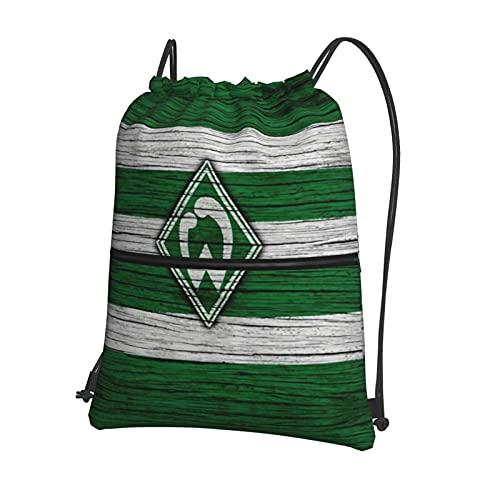 Werd-Er Brem-En Bedruckte Sporttasche Sporttasche Reisetasche Schuhtasche Rucksack Einkaufstasche Kordelzug Rei?Verschluss Rucksack