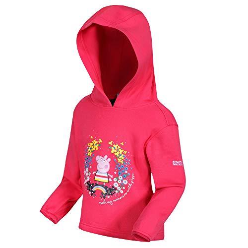 Regatta Chaqueta Ligera de algodón con Capucha para niños, Unisex niños, Chaqueta Ligera de algodón, RKA359, Rosa Brillante, 60-72