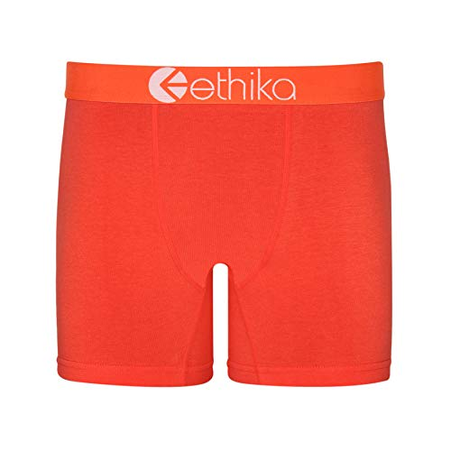 Ethika Herren-Boxershorts The Mid - Orange - X-Large