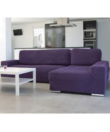 10XDIEZ Housse de canapé Longue B/Long Glamour – Couleur – Mauve – Côté – Droit