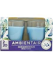 Ambientair VV002OCAAGC aromáticas de Aroma océano Brisa Marina. Dos Unidades. Velas perfumadas con Cera Vegetal y Perfume Natural con una duración Estimada de 20 Horas Cada