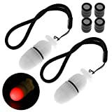 SecurityIng 2Pc Underwater Strobe Signal Light Scuba Night Dive Marker LED Flashy Safety Lamp Firefly Diving...