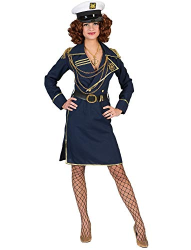 Kostüm Kapitänin Greeta Größe 44/46 / Kapitänskostüm Damen Kapitän Matrosin Matrosenkostüm Segeln Karneval Fasching Pierro's
