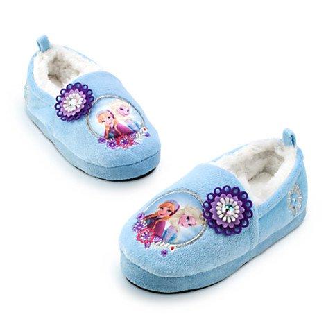Chaussons chaud intérieur pour enfants La Elsa Anna de Reine des Neiges pour enfants - taille UK 6 - 7 ---- EU 23 - 24