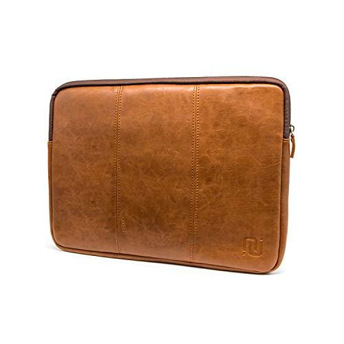 Negotia Vintage Abbey - Laptophülle 14 Zoll PU Leder Huawei Matebook d 14 Hülle Laptoptasche 14 Zoll Notebooktasche 14 Zoll - Braun