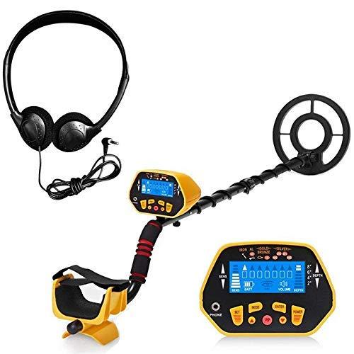 JF-Xuan Detector de metales profesionales, buscador de metales impermeables de alta sensibilidad GC-1028 con auriculares, 7 categorías de destino, mensaje de audio, indicación de profundidad, con func