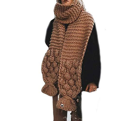 PLOT Schals für Damen Halstücher Modische Einfarbig Winter Warm Strickschal Lang Grobstrick Deckenschal Super Weich Herbstschal Oversize Winterschal Halstuch