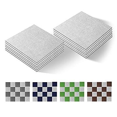 "New Version Self Adhesive Carpet Floor Peel Tile Square 10 Pcs 10"" x 10"" Anti-Slip No Fatigue Mat Home Furnishings and Floor Protect Pads Easty Install DIY (37)"