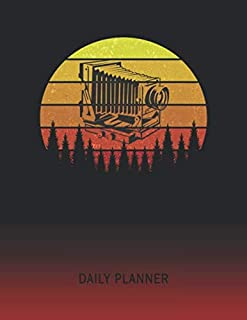 Daily Planner: Stereoscope Camera | 2020 - 2021 Daily Planner For 1 Year Of Planning | Retro Vintage Sunset Cover | January 20 - December 20 | Organizer Writing Notebook | Productive Datebook Calendar Schedule | Plan Days, Set Goals & Get Stuff Done