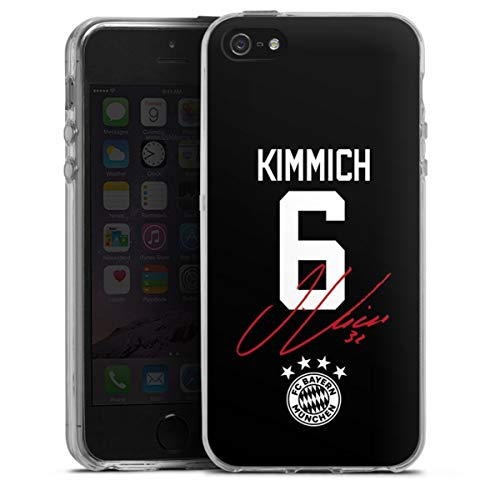 DeinDesign Silikon Hülle kompatibel mit Apple iPhone SE (2016-2019) Case transparent Handyhülle FC Bayern München FCB Kimmich