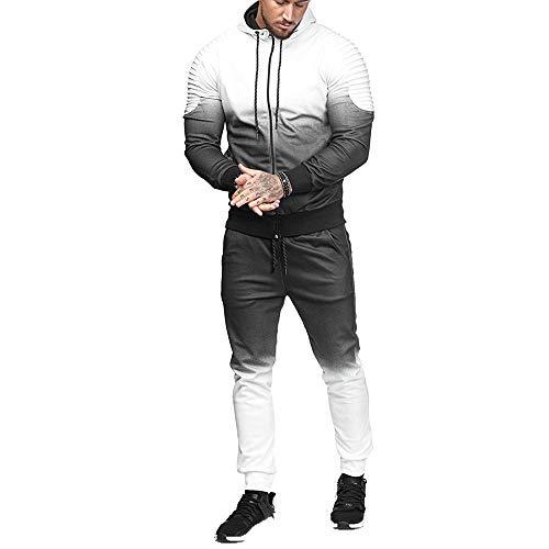 FRAUIT herfst winter heren tops broek sets kledingsets strepen kleurverloop sweatshirt trainingspak warm ademend comfortabel sport vrije tijd mode broek jeans jeans broek broek broek broek M-3XL
