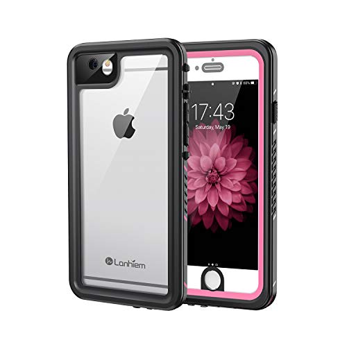 Lanhiem iPhone 6 / 6s Case, IP68 Waterproof Dustproof Shockproof Case with Built-in Screen Protector, Full Body Sealed Underwater Protective Cover for iPhone 6 / 6s (Pink)
