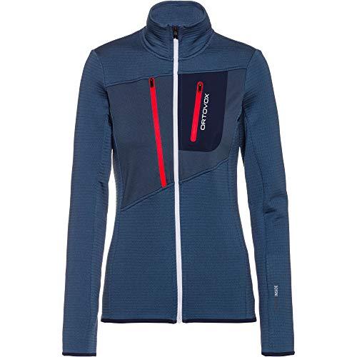 ORTOVOX Damen Fleece Grid Jacke, Night Blue, L