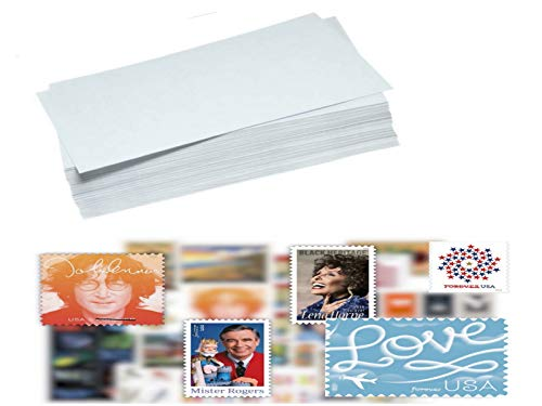 S.T.A.M.P.S 25 Forever Stamps, Postage Stamps with 25 White Security Envelopes - Stamp Designs May Vary