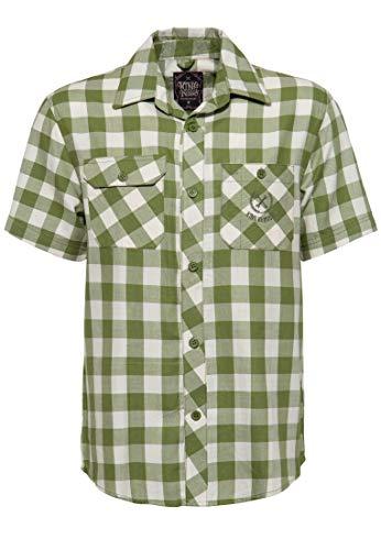 King Kerosin Loud & Fast Camisa, Verde, S para Hombre