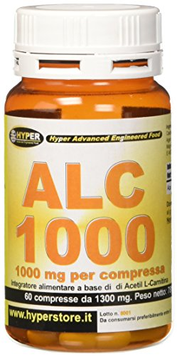 Next Nutrition Hyper Acetil L - Carnitina 1000 Mg per Compressa Flacone 60 Compresse Dimagrante Brucia Grassi