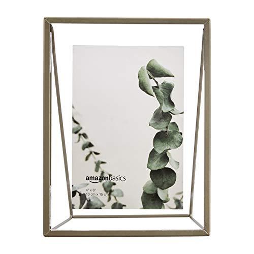 Amazon Basics Schwebender Keil-Bilderrahmen, 10 x 15 cm, Messingfarben