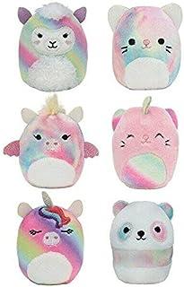 Squishville by Squishmallows SQM0066 Mystery Rainbow Dream Squad, Six 2, Irresistibly Soft Colourful Plush, Mini Squishmal...