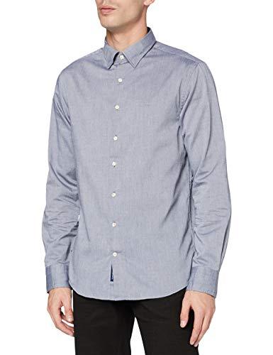 GANT Herren TP Oxford Plain REG HBD Hemd, Evening Blue, XXXL