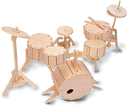 Quay L005 Drums Woodcraft Construction Kit Bausatz, braun
