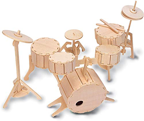 Quay L005 Drums Woodcraft Construction Kit Bausatz, braun