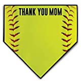 ChalkTalkSPORTS Softball Stitches Home Plate Plaque | Thank You Mom | Ready to Autograph