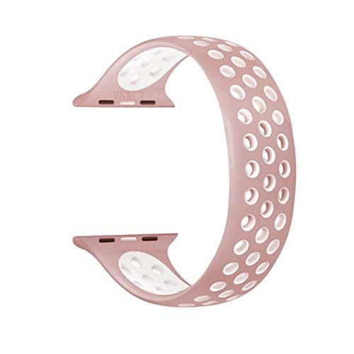 Correa de silicona para Apple Watch Band 40 mm 44 mm 4 5 6 SE iWatch serie 3 2 1 42 mm 38 mm Cinturón elástico Solo pulsera de bucle